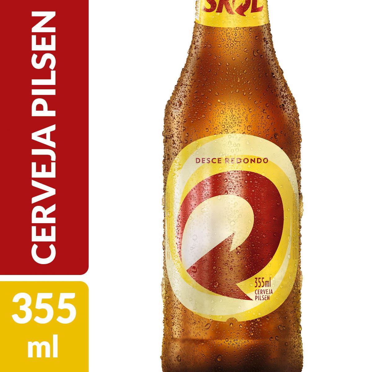 Conhecido Cerveja SKOL Long Neck Garrafa 355ml GN63