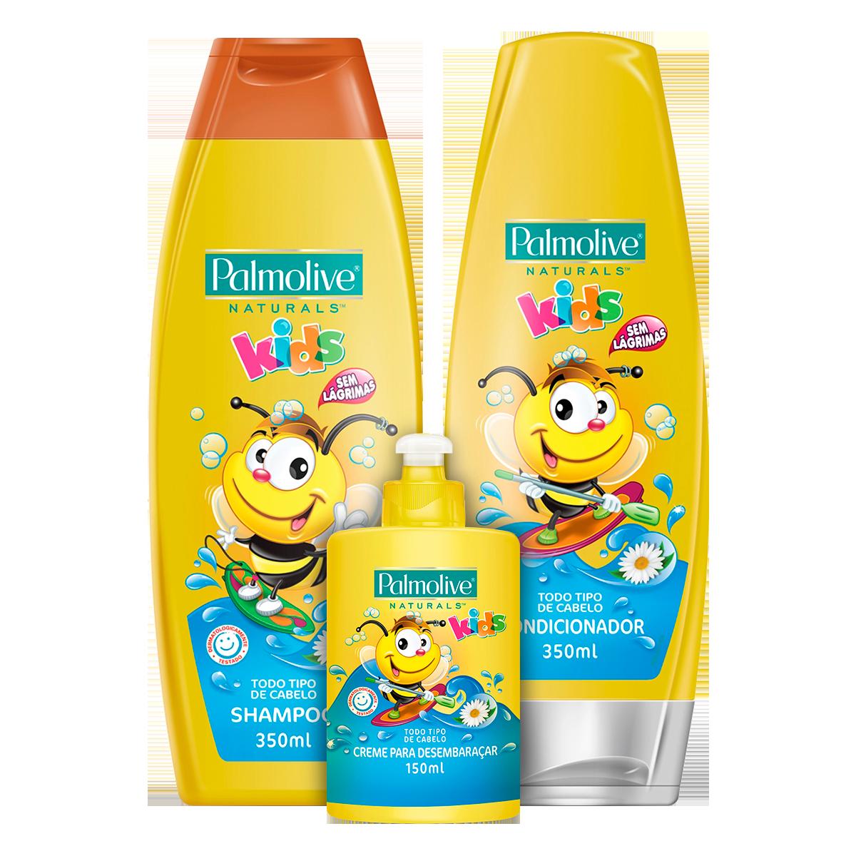bdd177c73 Kit com Shampoo, Condicionador e Creme de Pentear Infantil PALMOLIVE  Naturals Kids Todos Tipos de Cabelos