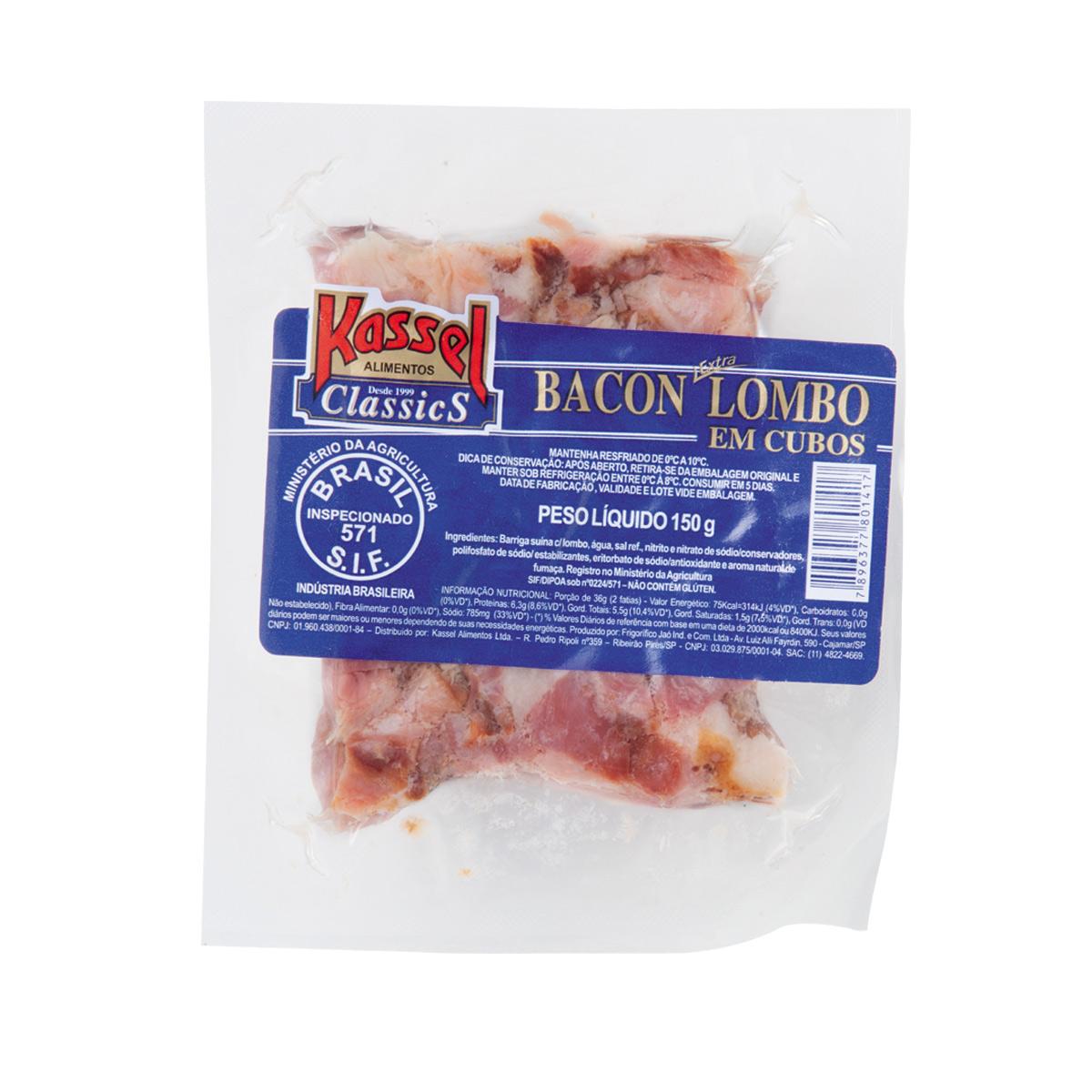 Favoritos Bacon Extra Lombo em Cubos KASSEL 150g XT29