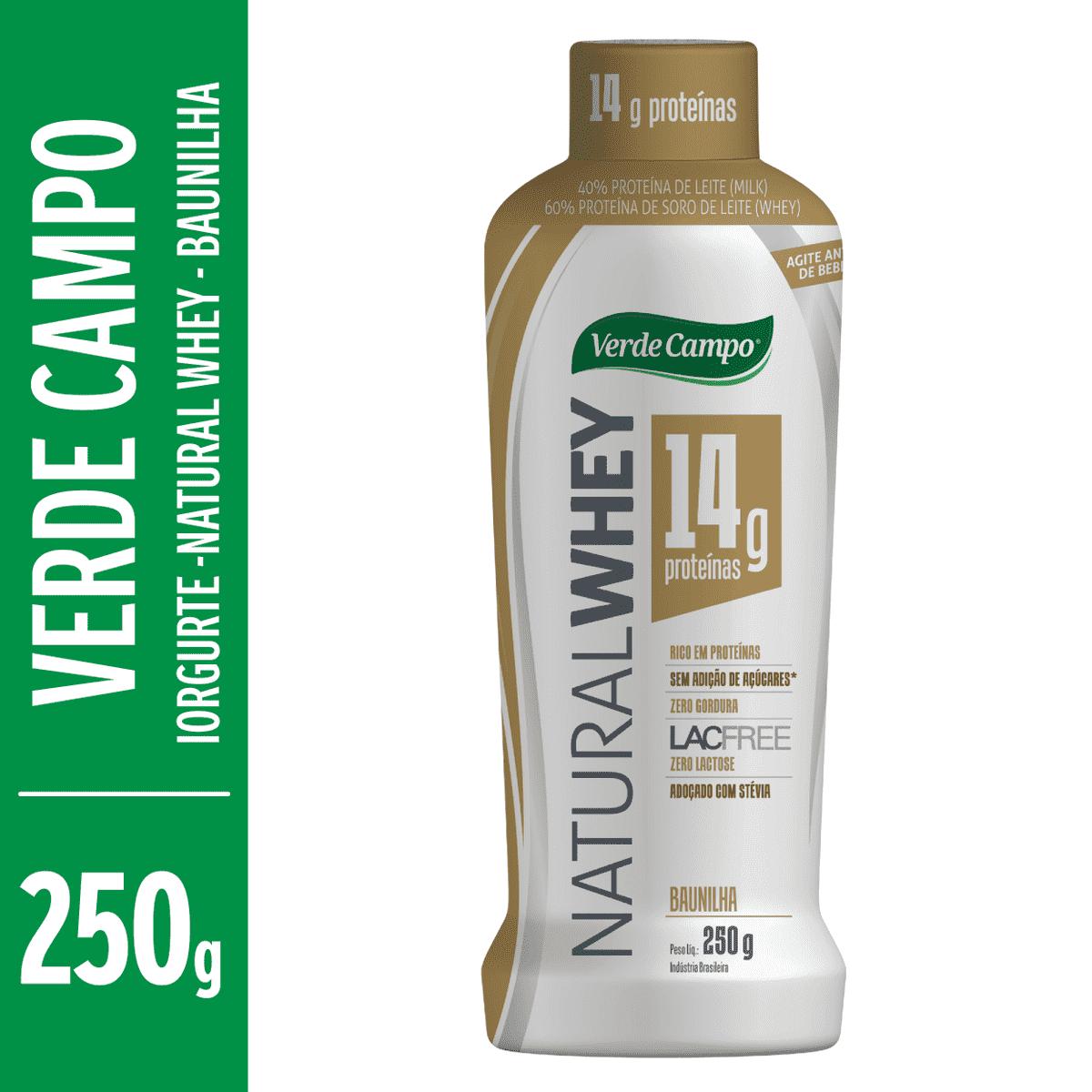 97dde24f1 Iogurte Lacfree Natural Whey de Baunilha VERDE CAMPO 250g