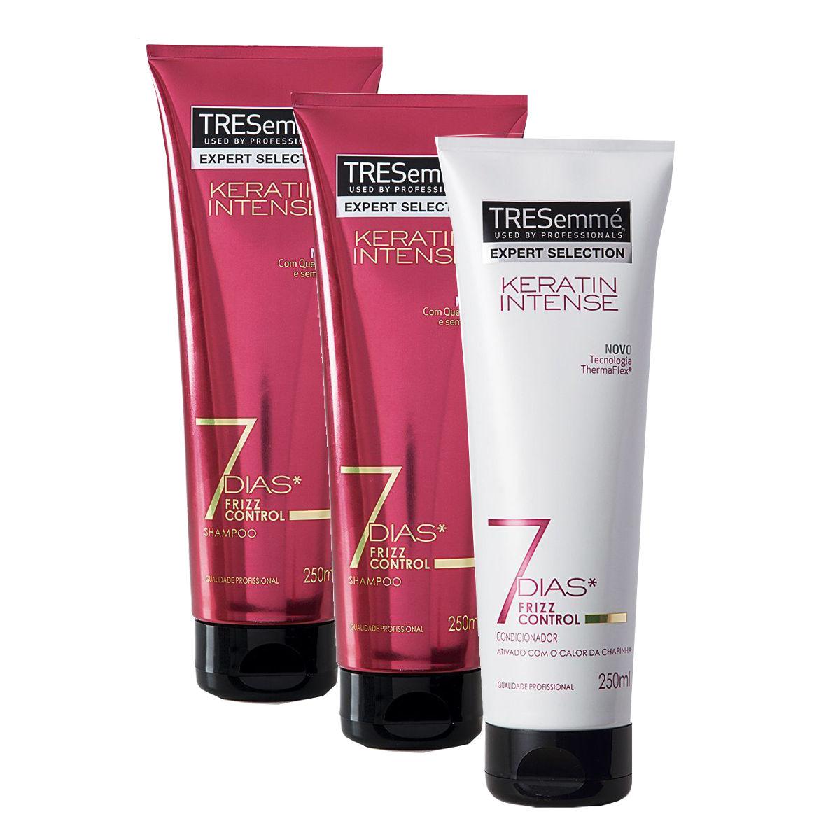 114c6c716 Kit com 2 Shampoos + 1 Condicionador TRESEMMÉ Expert Keratin Intense -  250ml Cada