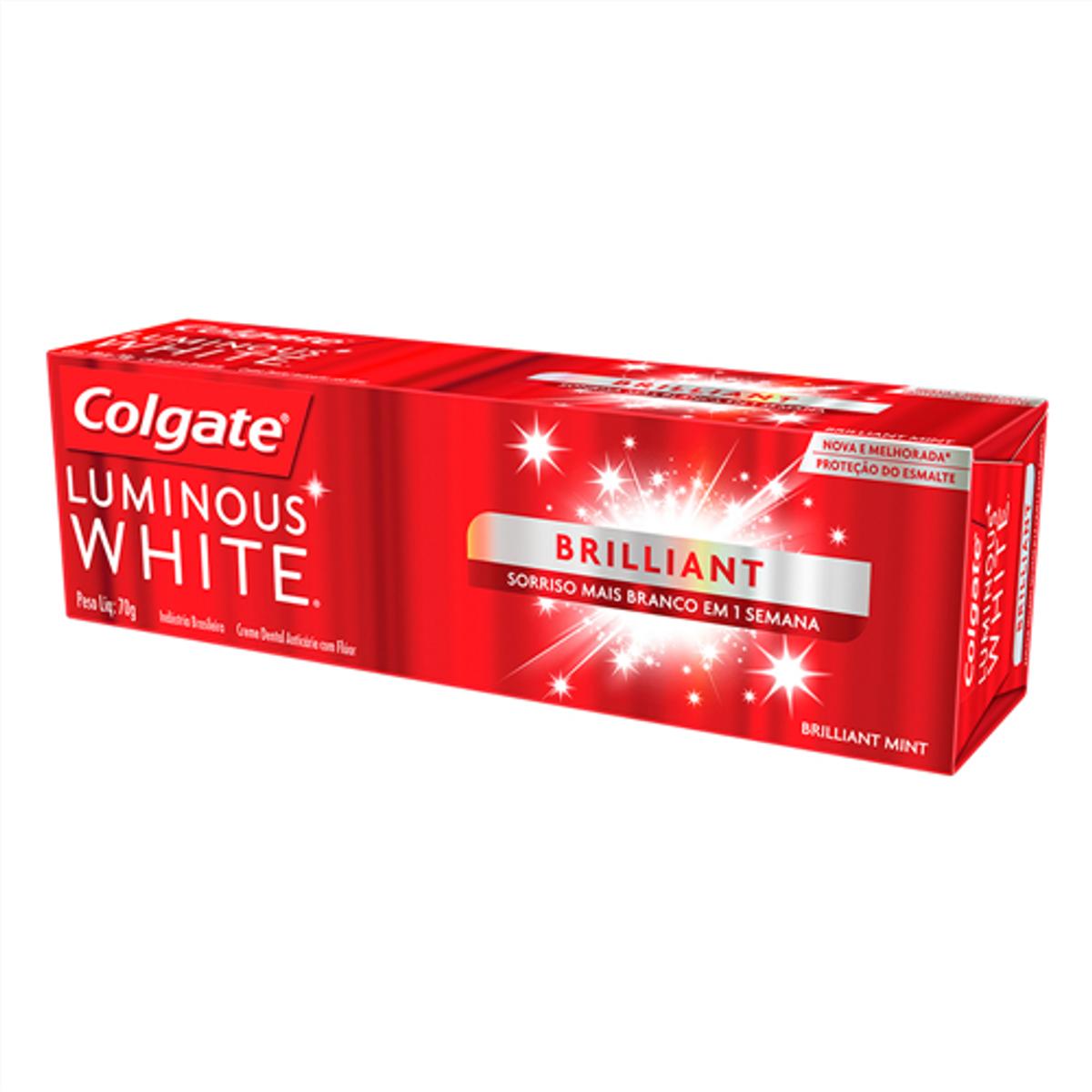 Creme Dental Branqueador Colgate Luminous White 70g