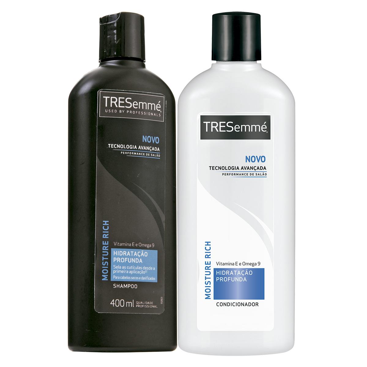694a0b79e Kit de Shampoo + Condicionador TRESEMMÉ Hidratação Profunda 400ml Cada