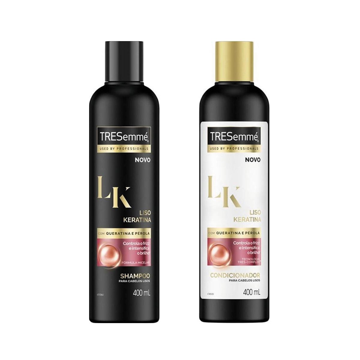 97aff2ef4 Kit TRESemmé Liso Keratina Shampoo + Condicionador 400ml